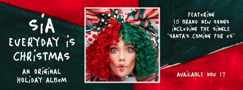 Everyday Is Christmas.Sia Everyday Is Christmas Entertainment News Gaga Daily